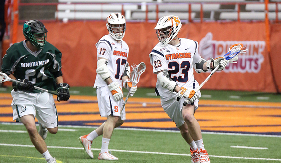 Syracuse men's lacrosse's offense is rounding into form at just the right time